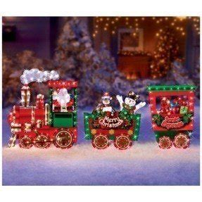 christmas outdoor halogrphic train decoration decorations outdoor www indiepedia org