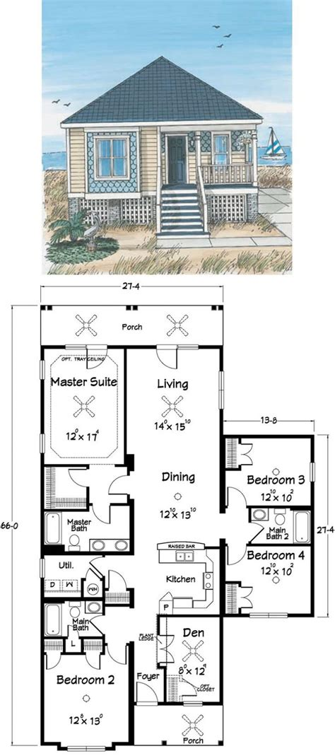 seaside house plans house plans on piers and beams small coastal pilings