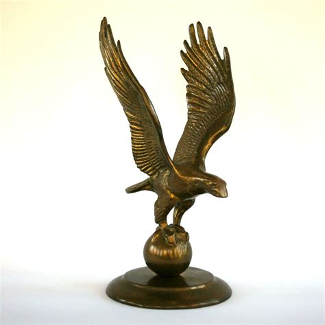 home decor statue vintage brass eagle statue home decor american by rhapsodyattic