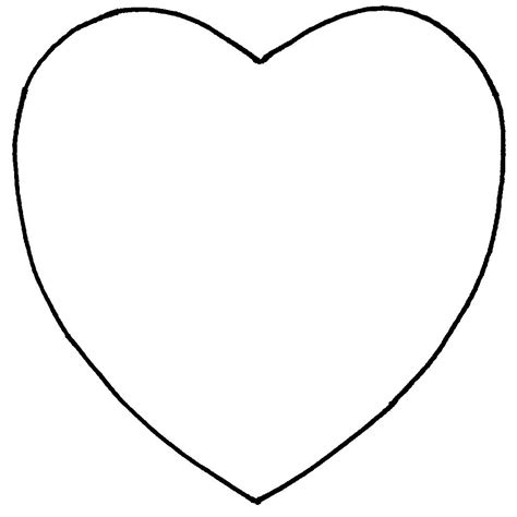 heart template to print clipart best
