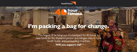 40 hour famine challenges resources 40 hour famine