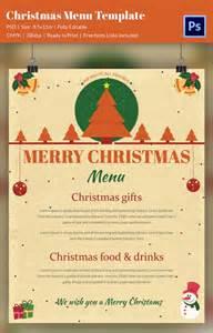 christmas menu template 37 free psd eps ai