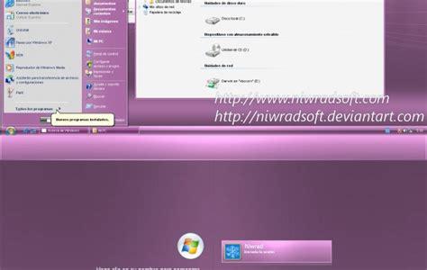 xp live theme for windows xp desktop themes live remix 3 0 pink xp theme desktop themes