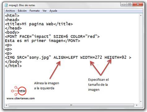 imagenes html codigo c 243 digo para insertar im 225 genes en html herramientas