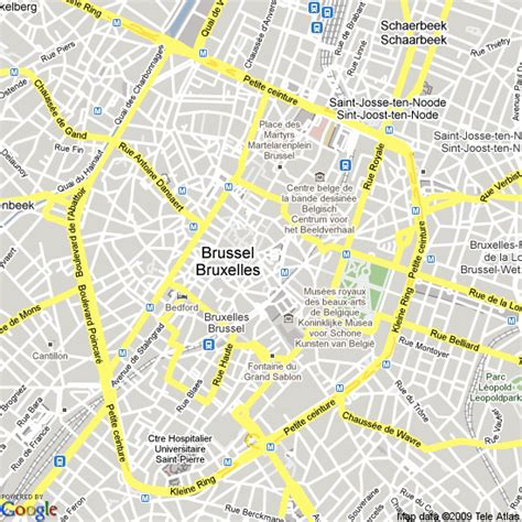 brussels map map of brussels belgium hotels accommodation