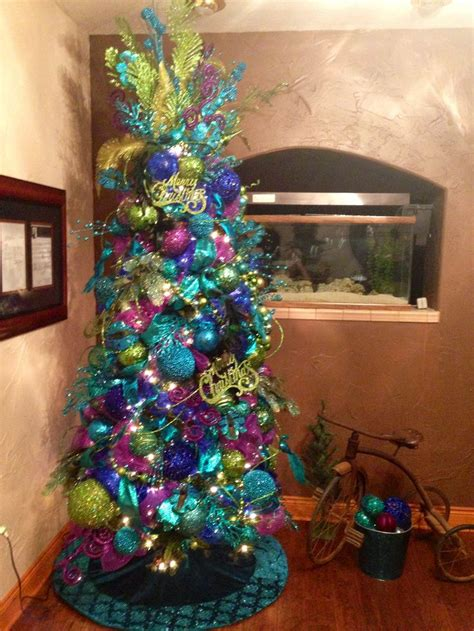 25 best ideas about peacock tree on ribbon on tree blue