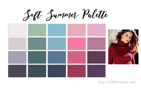 soft summer color palette soft summer palette soft cool infinite closet
