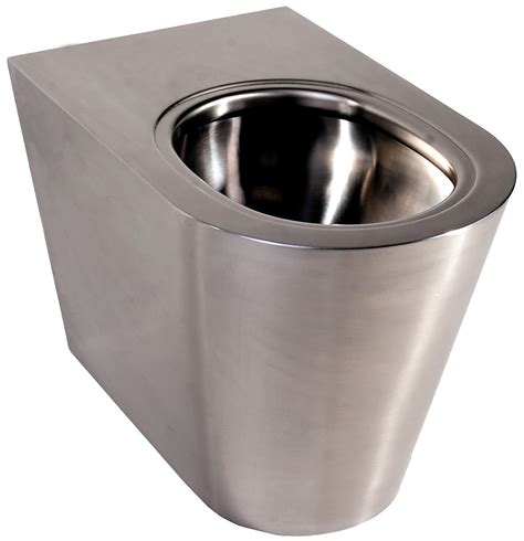 stainless steel toilet twyford stainless steel floor standing back to wall wc pan