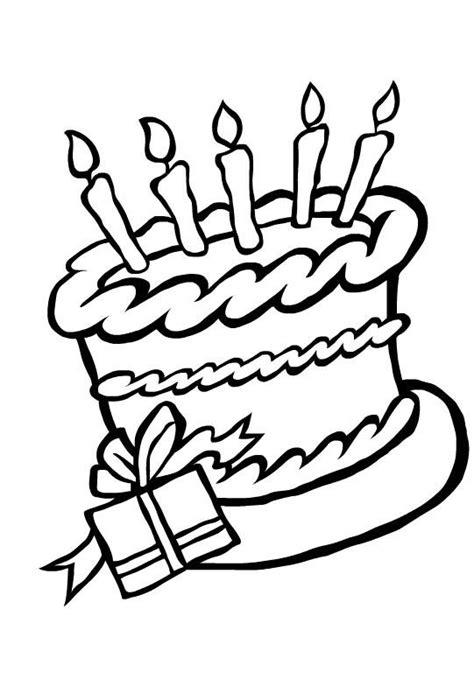 happy birthday emily coloring pages taart feest kleurplaten wensjes pinterest