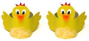 led len oder energiesparlen ostern basteln eierbecher aus klopapierrollen kueken