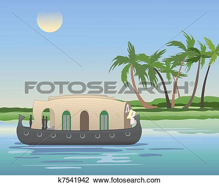 houseboat vector house boat clipart clipground