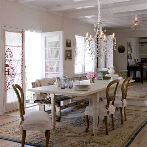 shabby chic dining room interior decorating accessories