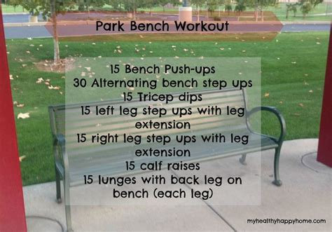 park bench workout park bench workout fitness pinterest parks park