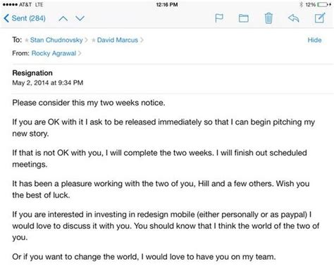 Resignation Letter Vs Email The Complete Saga So Far Of Paypal Vs Former Executive