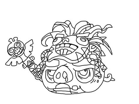 angry birds pirate coloring pages angry birds epic coloring page witch doctor pig my