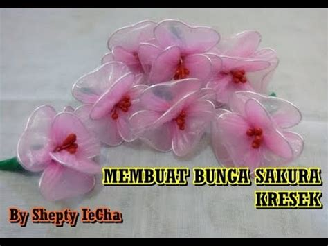 tutorial membuat bunga sakura dari kain flanel cara membuat bunga mawar bakar dari kain perca sifon arow