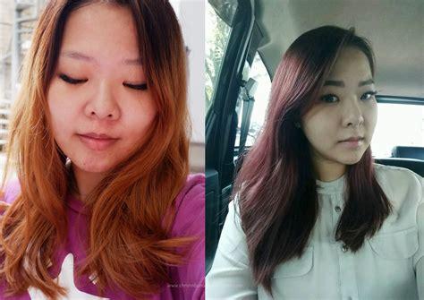 Cat Rambut Ps hair journey part 4 burgundy hair again