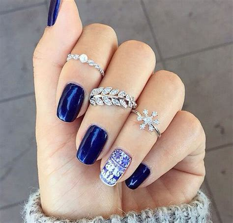 Nail Styles For 2015 | 15 blue winter nail art designs ideas trends stickers