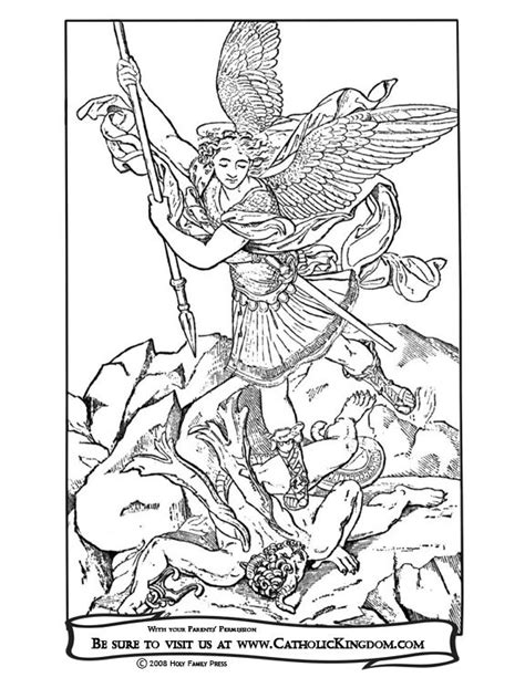 St Michael Coloring Page archangel michael catholic coloring page the feast of st