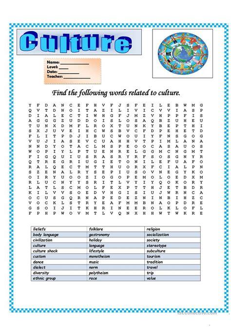 Culture Worksheets