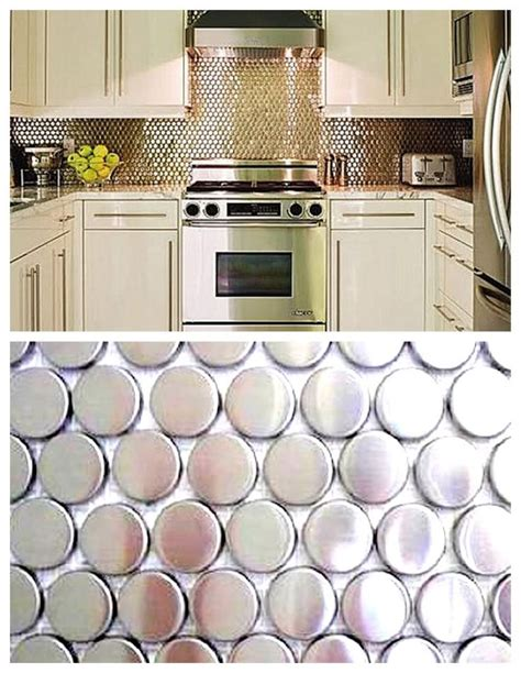 penny tile kitchen backsplash silver penny tile backsplash google search design