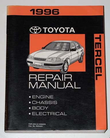 service and repair manuals 1993 toyota tercel electronic toll collection 1996 toyota tercel factory service manual original shop repair factory repair manuals