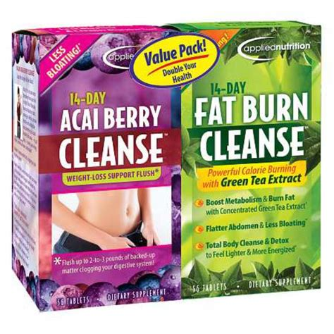 Berry Detox Tea Reviews by Applied Nutrition 14 Day Acai Berry Cleanse 14 Day