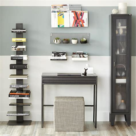 book shelf anthracite sapien bookshelf the container store