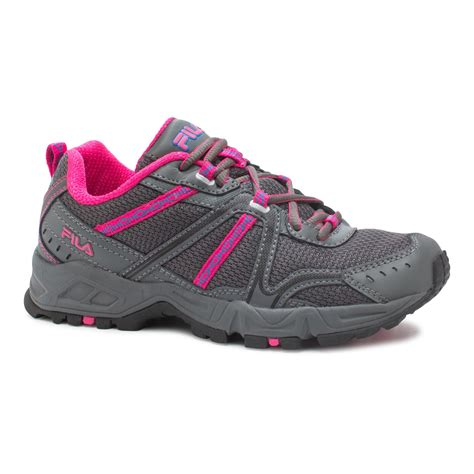 pink athletic shoes fila s ascent 12 athletic shoe gray neon pink