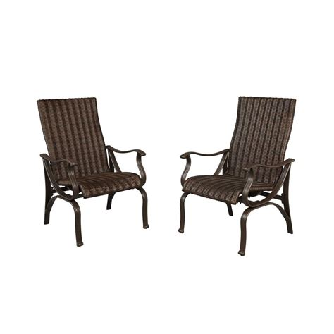 Restaurant Patio Chairs Hton Bay Pembrey Patio Dining Chairs 2 Pack Hd14204 The Home Depot