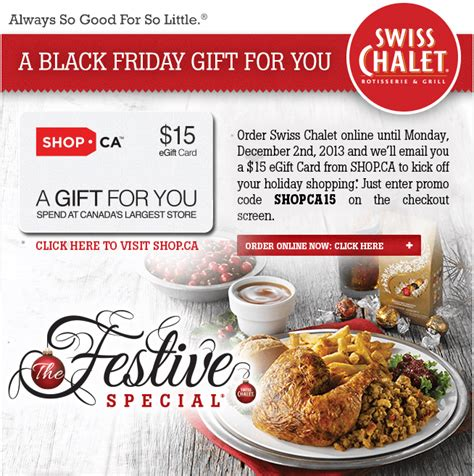 Swiss Chalet Gift Card Online - swiss chalet coupon promo codes order online get free 15 gift card hot