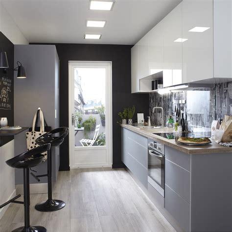 cuisine blanc gris meuble de cuisine gris delinia leroy merlin