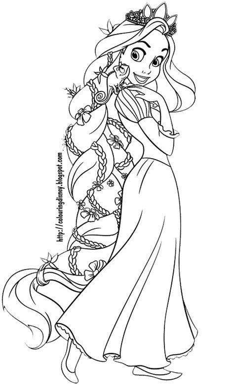 Coloring Pages Tangled free rapunzel para colorear coloring pages