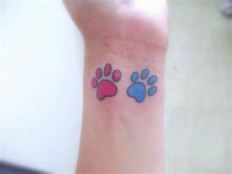 paw print tattoos on wrist paw print tattoos wrist paw print paw