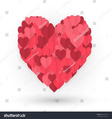 who made up valentines day made hearts composition hearts valentines stock