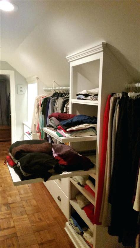 closet slanted ceiling closet ideas  closets