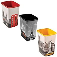 decorative bathroom trash cans decorative wastebasket bed bath beyond