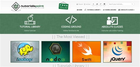 tutorial point web technology want to become a web programmer without spending bucks