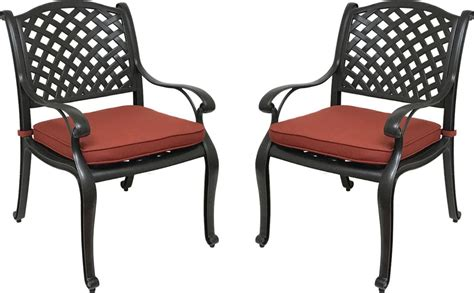 Patio Dining Chairs With Cushions Nevada Cast Aluminum Outdoor Patio Dining Chairs With Sunbrella Cushions Patio Table