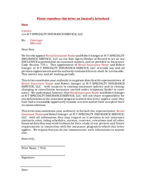 Insurance Broker Letter Of Appointment Insurance Broker Cover Letter Sle Recentresumes