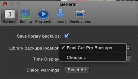 final cut pro backup final cut pro x 10 1