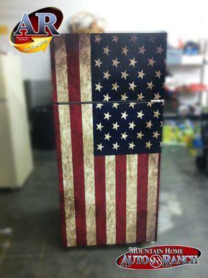 refrigerator wraps usa flag click   image
