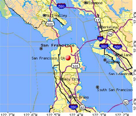 san francisco california map san francisco california ca profile population maps