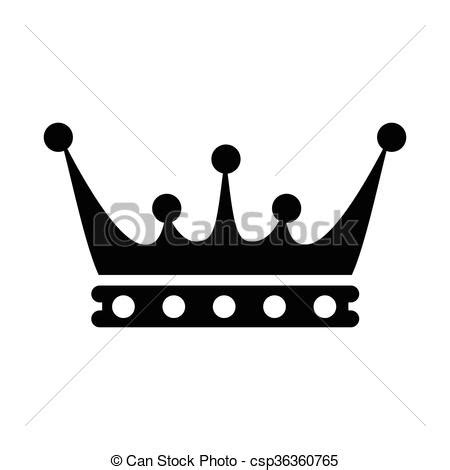 crown icon simple crown icon in simple style isolated on