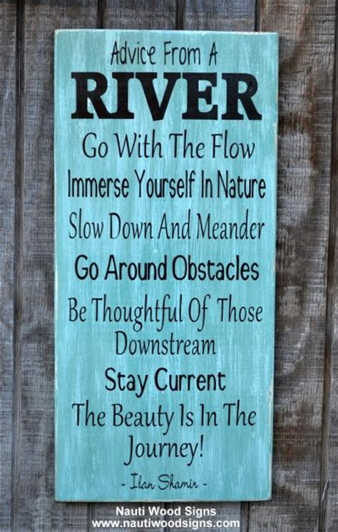 river house decor advice from a river sign quote wall art river house decor