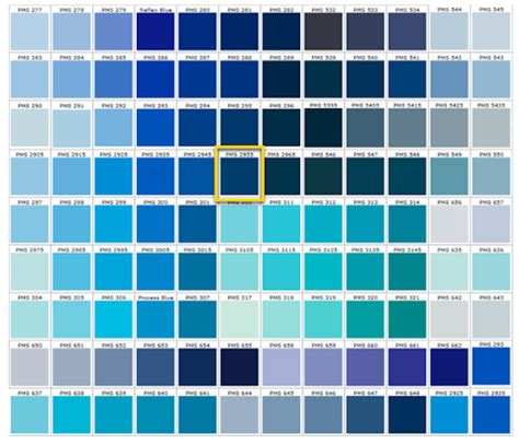 types of blue color shades of blue blue colors accent on design blog