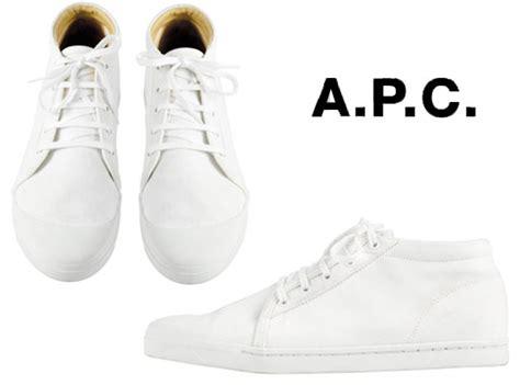 Apc Summer Picks by A P C White Canvas Tennis Shoes Summer 2009