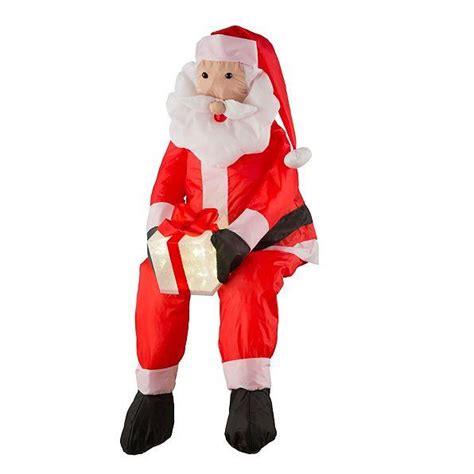 outdoor lighted santa claus stuffable lighted santa claus or snowman decoration