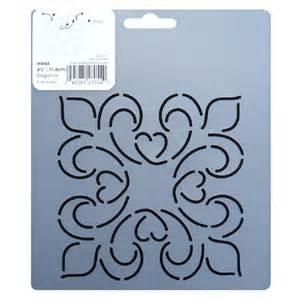 4 5 inch square hw54 elegance block quilting stencil