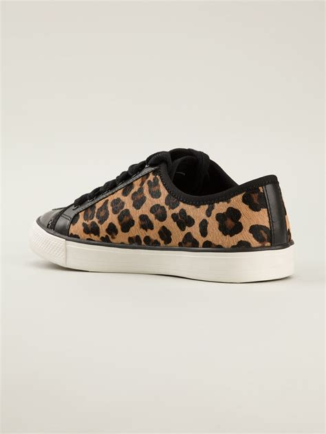 burch leopard print sneakers in black lyst